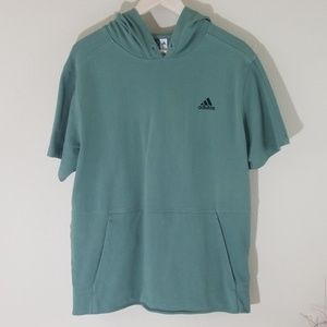 Adidas Women's Pistachio Short Sleeve Hoody Top